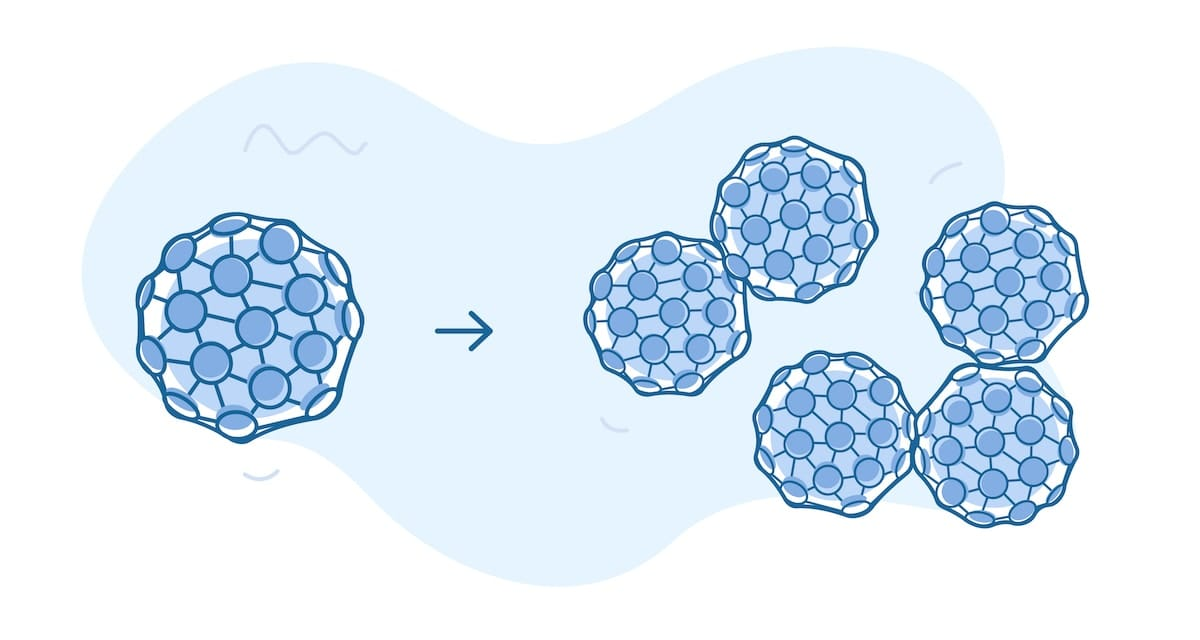 HPV virus, both what it looks like by itself and when it has evolved to a cancerous stage.