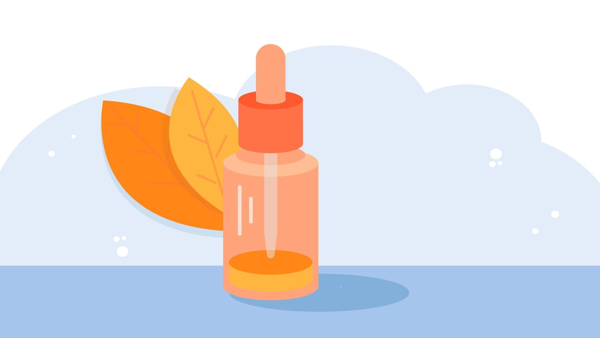 Illustration of tea tree oil