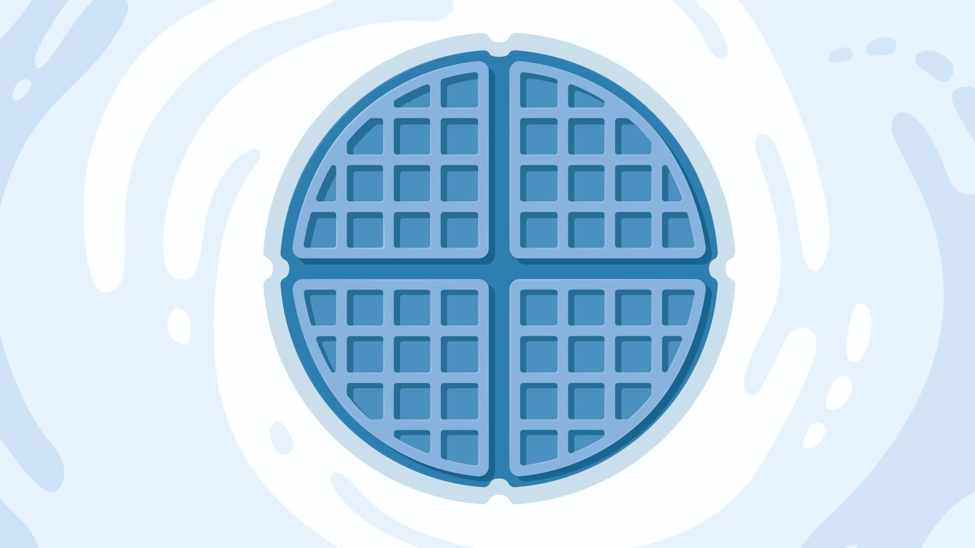 An illustration of a blue waffle