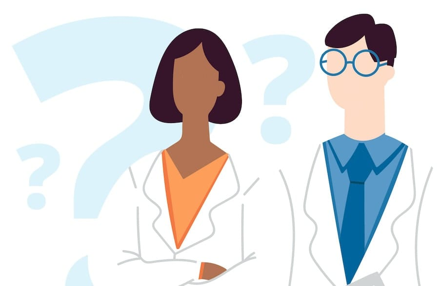 Illustration of two doctors side-by-side