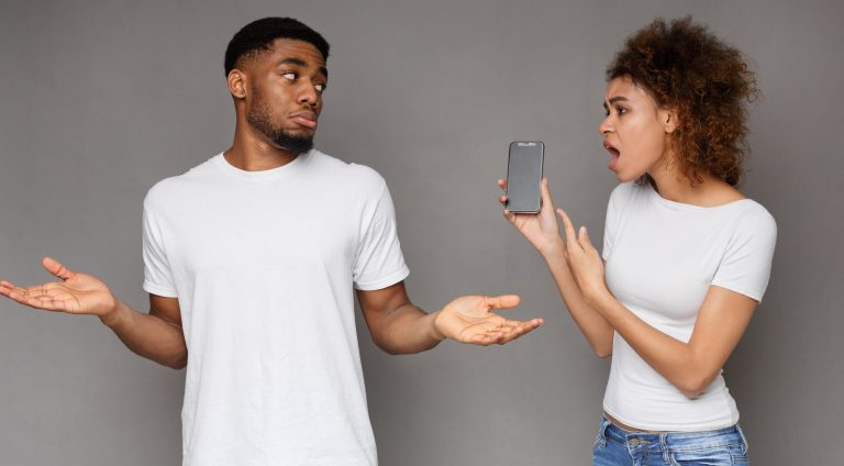 Girlfriend asking for explanation to her cheater boyfriend